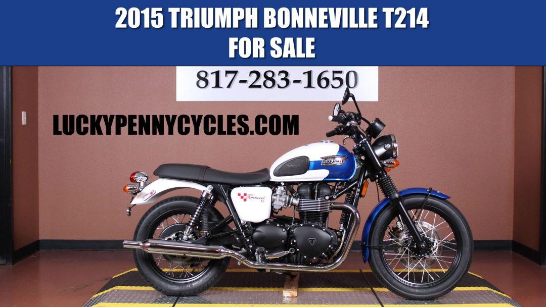 2015 Triumph Bonneville T214 Special Edition For Sale Viral Video
