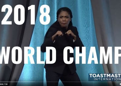 Ramona J. Smith 2018 Toastmasters World Champion of Public Speaking