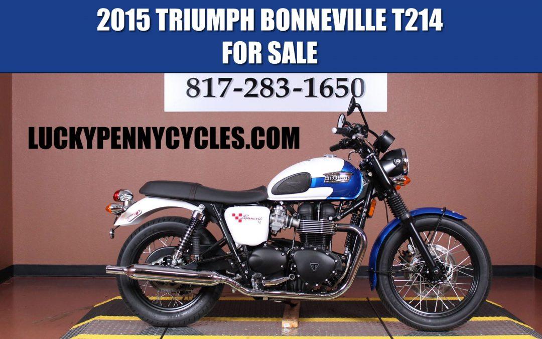 2015 Triumph Bonneville T214 Special Edition For Sale