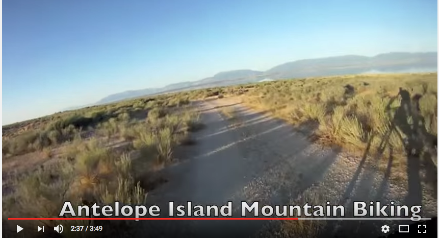 Mountain Bike Riding, Antelope Island, Utah