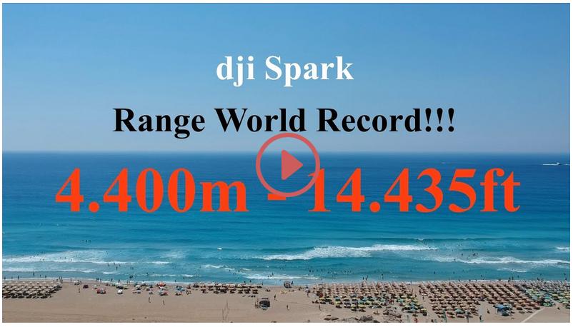 DJI Spark Range World Record